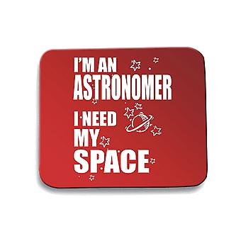 Tappetino mouse pad rosso gen0251 i need space