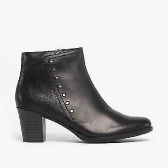Rieker Y8957-00 Ladies Leather Ankle Boots Black