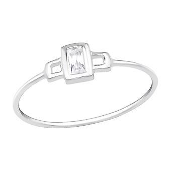 Dreptunghi - 925 Sterling Silver Inele cu bijuterii - W16344x