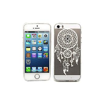Hull For Iphone Se (2016) / 5s / 5 Transparent Flexible Pattern Catches White Dreams