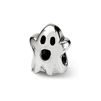 925 Sterling Silver Polished finish Reflections SimStars Kids Ghost Bead Charm Pendant Necklace Jewelry Gifts for Women