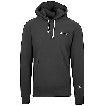 Champion Champion Reverse Weave Black Hooded Sweatshirt