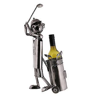 Weinflasche Halter Golfer