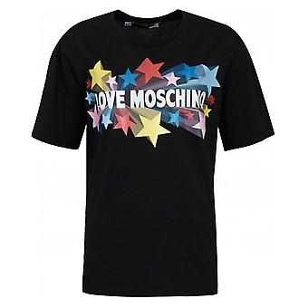 Love Moschino Stars Logo T-shirt