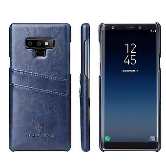Pour Samsung Galaxy Note 9 Case Deluxe Wallet Leather Cover 2 Machines à sous, Bleu