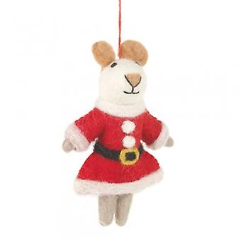 Felt Mrs Santa Paws Hanging Decoration| Gifts From Handpicked