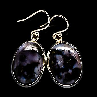 "Gabbro Earrings 1 3/8"" (925 Sterling Silver)  - Handmade Boho Vintage Jewelry EARR396288"