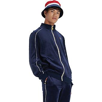 Fila Lineker Zip Front Velour Track Top Navy/White 32