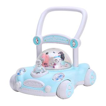 RideonToys4u Baby Sit to Stand Push Along Walker With Rotating Characters Blue
