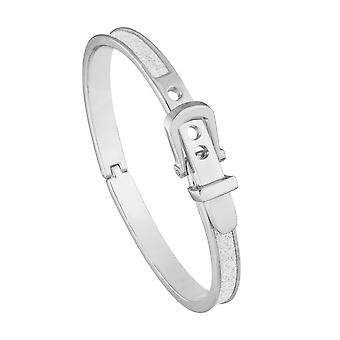 Belle & Beau Silver Plated Small Buckle Moondust Bangle