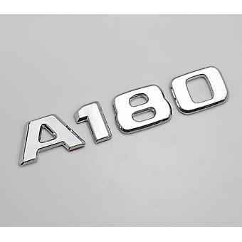 Silber Chrom A180 flach Mercedes Benz Auto Modell hintere Boot Nummer Buchstabe Aufkleber Aufkleber Abzeichen Emblem für eine Klasse W176 W177 AMG