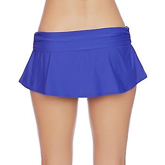 ATHENA Women's Flared Skirted Swimsuit Bikini Bottom, Tulum Texture Blue, Med...