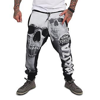 YAKUZA Mäns Jogging Byxor Muerte Skull