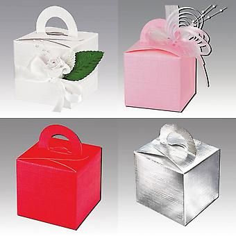 Club Green Silk Square Box With Handle (Pack Of 10)