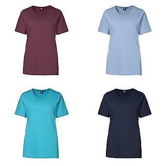 ID las mujeres/de las señoras T-tiempo calidad Regular instalación de manga corta camiseta