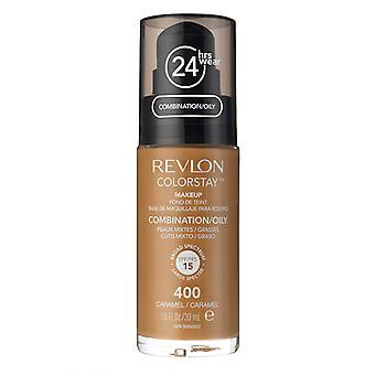 Combinação de maquiagem Colorstay Revlon/Pele Oleosa-400 Caramelo 30ml