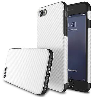 Textured carbon fibre iphone se case