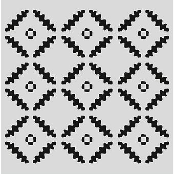 Estêncil da Máscara pronty - Quadrados padrão 470.801.041 150x150mm