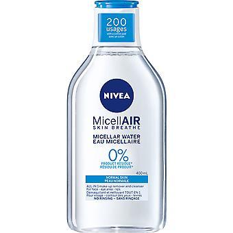 Nivea MicellAIR Micellar Wasser für normale Haut Make-up Entferner, 400 ml