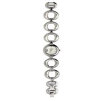 Eton Oval Link Bracelet Watch, Silver Dial - 3109L-SL