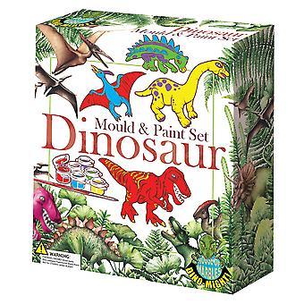 Mould & Paint Dinosaur Set   Kids Craft Gift Sets