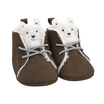 Carter's Kids Baby Boy Soft Sole Brown Bear Boot, 0-3 Months Crib Shoe