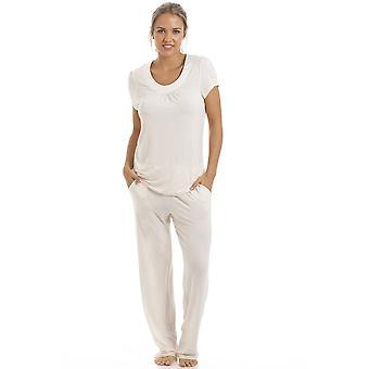 Camille Cream Full Length Modal Pyjama Set