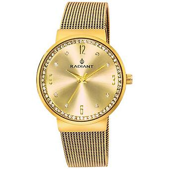 Radiant new bouquet Quartz Analog Woman Watch with RA328202 Gold Plated Stainless Steel Bracelet