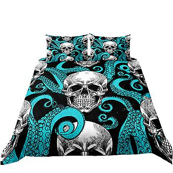Bedding printed quilt cover, Gothic pattern print, soft quilt cover with pillowcase, bedroom single bed