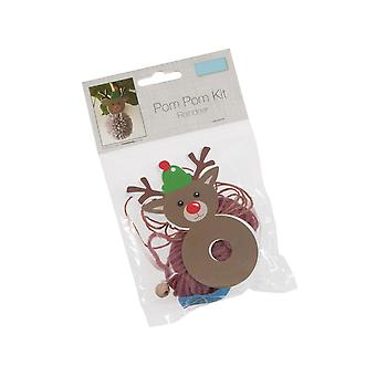 Rudolph Reindeer Pom Pom Hanging Ornament Craft Kit