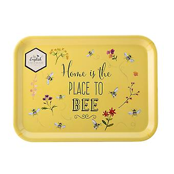 English Tableware Co. Bee Happy Large Tray, Place To Bee