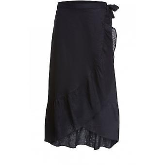 Oui Black Frilled Edged Skirt