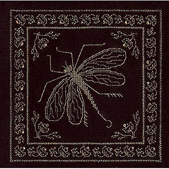 Panna Cross Stitch Kit : Golden Dragonfly