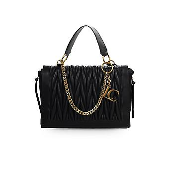 LA CARRIE OLYMPIA BLACK SHOPPING BAG