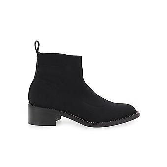 MARC ELLIS BLACK STRETCH ANKLE BOOT