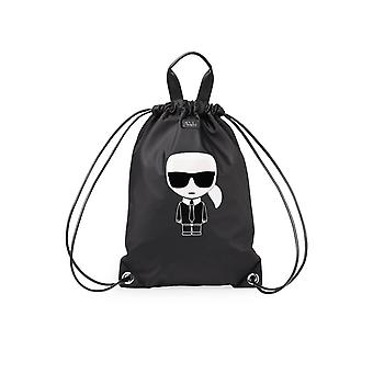 KARL LAGERFELD K/IKON BLACK BACKPACK