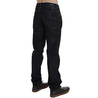 Blue Wash Cotton Denim Straight Fit Jeans SIG30533-1