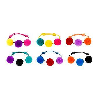 Triple Pom-Pom Cotton Bracelet - Chosen at Random
