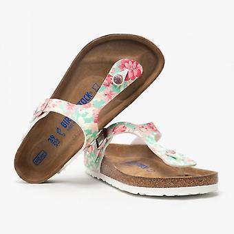 Биркенсток Gizeh 1016138 (рег) Дамы Бирко-флор-то пост сандалии Сверхъестественное Цветы Изумрудный