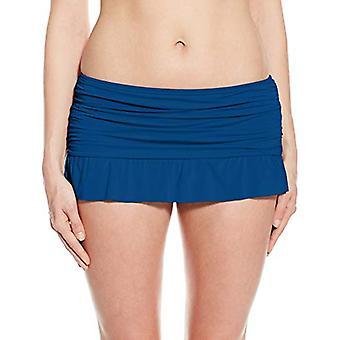 Kenneth Cole REACTION Women's Ruffle Shuffle Skirted Bikini Bottom, Marine Li...