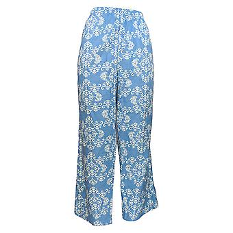 Anthony Richards Women's Petite Pajama Pants Novelty Printed Blue