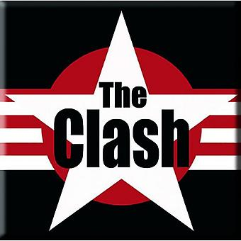 The Clash Fridge Magnet band logo Stars & Stripes new Official 76mm x 76mm