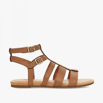 UGG Mahalla Dames Cuir Strappy Sandals Amande