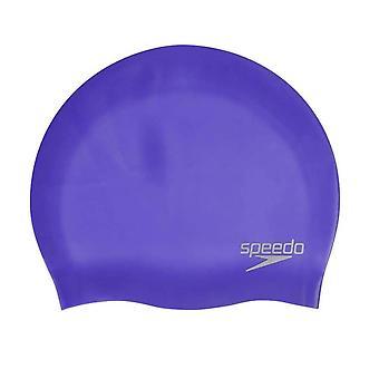 Speedo Tavallinen seniori valettu silikoni uinti korkki lila /hopea