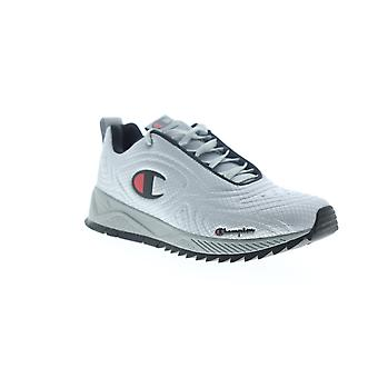 Champion Flex 19  Mens Gray Suede Lace Up Low Top Sneakers Shoes