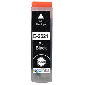 1 čierna atramentová kazeta, ktorá nahradí epson T2621 (séria 26XL) kompatibilnú/non-OEM z atramentov Go