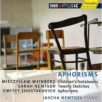 Jascha Nemtsov - Aphorisms [CD] USA import