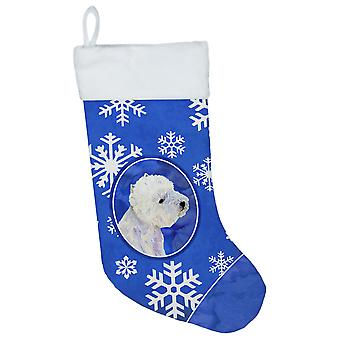 Westie vinter snefnug snefnug ferie jul julen strømpe LH9270