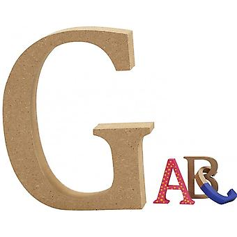 8cm Medium Wooden MDF Letter Shape to Decorate - G | Wood Shapes for Crafts