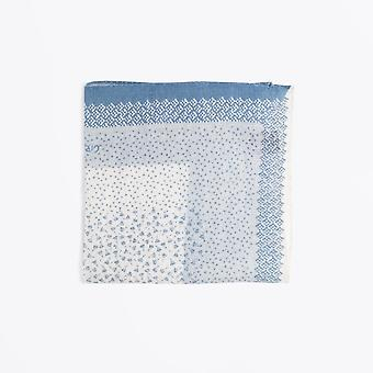 Circolo 1901 - Small Flower Print Pocket Square - Blue